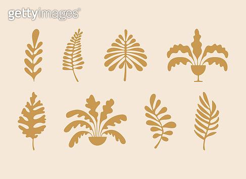 Vector illustration in simple hand drawn and linocut style - natural print, poster or logo design template - spring illustration - nirds and flowers