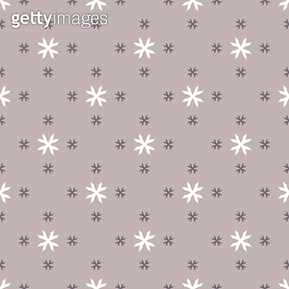 Vector geometric floral pattern. Abstract seamless texture. Simple ornament