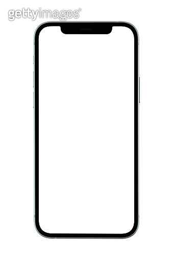 Smartphone with a blank white screen