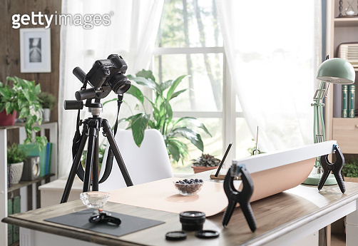Food photography set at home