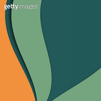 Yellow green curly abstract flexible background, curved stripes of different colors. Geometric Layout for design