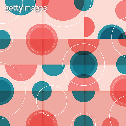 Geometric colorful vector pattern. Trendy geometric elements