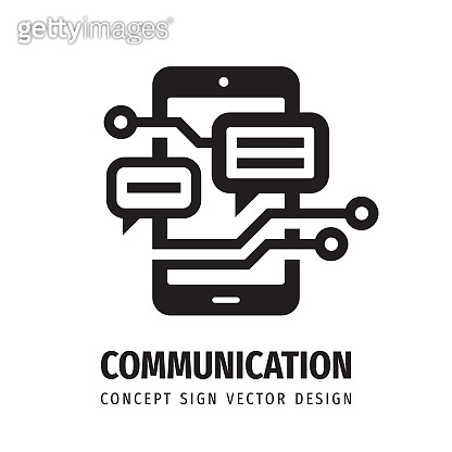 Business communication concept icon sign design. Smart phone symbol. Mobile phone icon. Electronic technology sign. Vector illustration.