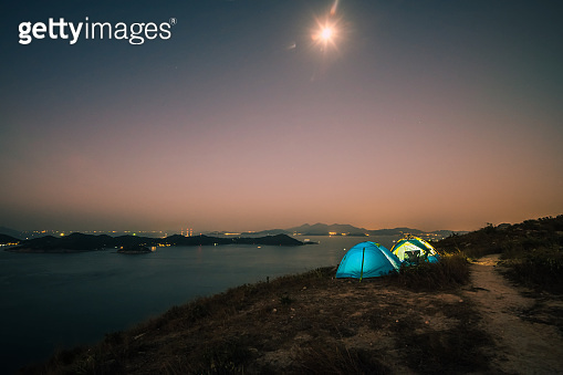 Camping on mountain top