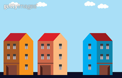 Buildings in the city, real estate concept buy sell