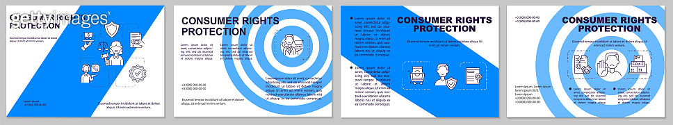 Consumer rights protection brochure template