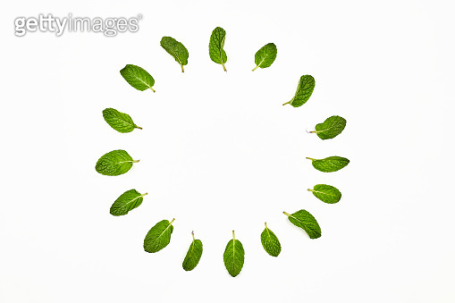 Creative circle with mint