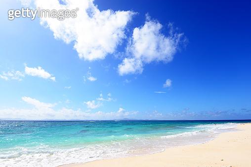 Beautiful blue sea of Okinawa Japan