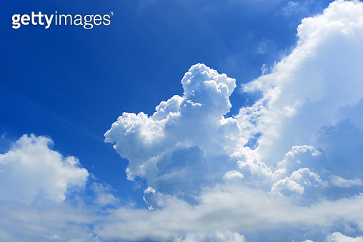 Refreshing blue sky and clouds