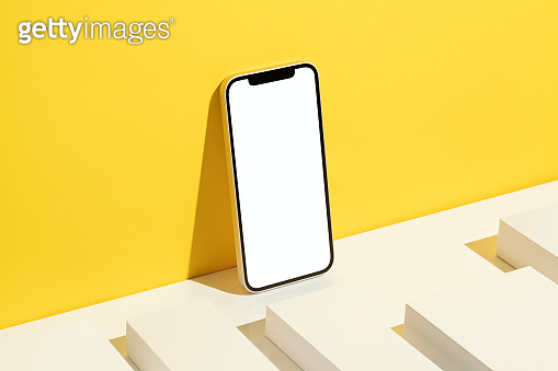 Blank screen smart phone mockup, template