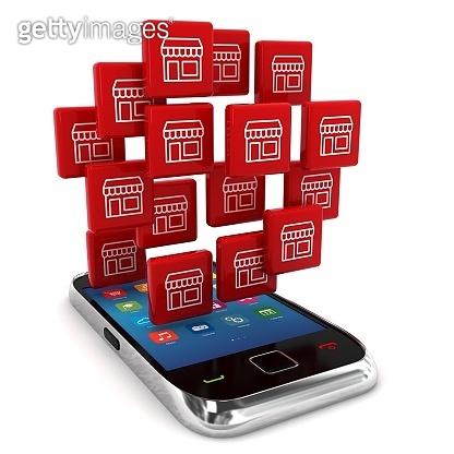 E-commerce online shopping mobile phone shop