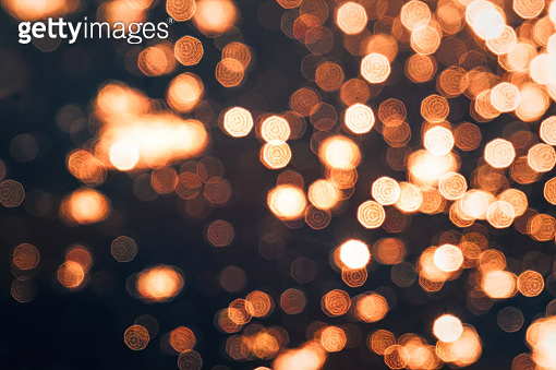 Beautiful shiny golden bokeh. Nice holiday texture and background