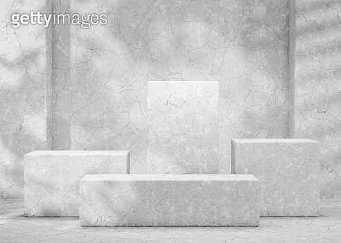Mockup podium for branding, packaging and cosmetic presentation