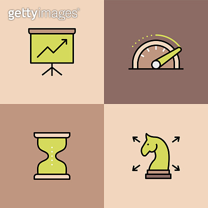 Business Analysis Multi Color Icons