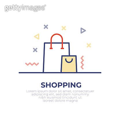 Shopping Bag Outline Icon Design