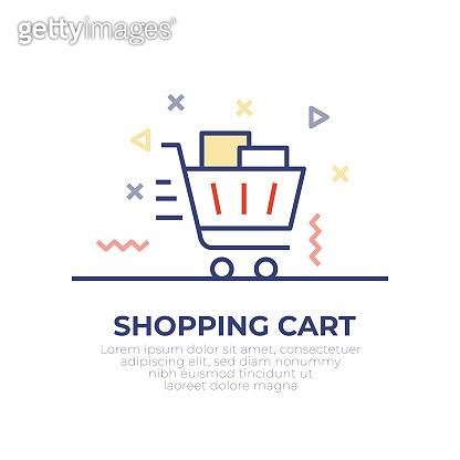 Shopping Cart Outline Icon Design