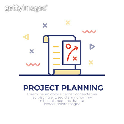 Project Planning Outline Icon Design