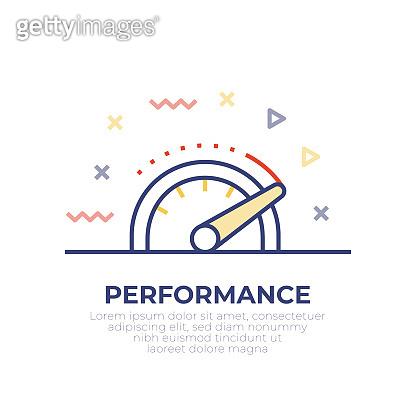 Performance Outline Icon Design