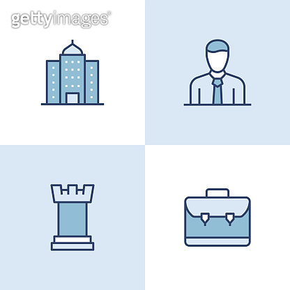 Corporate Business Multi Color Icons