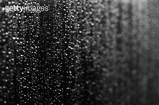 Rain drop background texture over glass surface