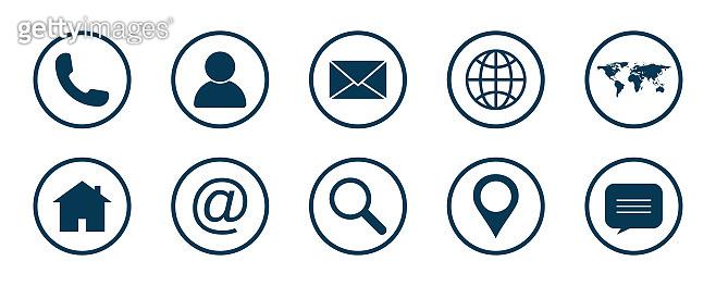 Web icon set. Website icon vector isolated on white background. Communication icon symbol