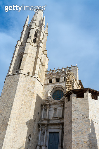 View of Girona Cathedral. Catalonia. Spain.