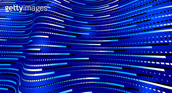 Big data flow technology and science vector background, tech abstraction with lines electronics and digital style in 3D dimensional perspective, abstract illustration.
