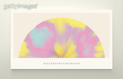 Cover design template. Abstract background with dynamic particles. Circular grid pattern. 3d vector illustration for business, science or technology.