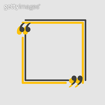 Quote square text with bracket, vector banner