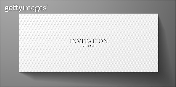 Premium VIP Invitation template with abstract white triangle pattern (carbon texture) on background