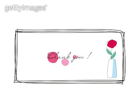 Vector illustration of a simple flower. Flower line art.