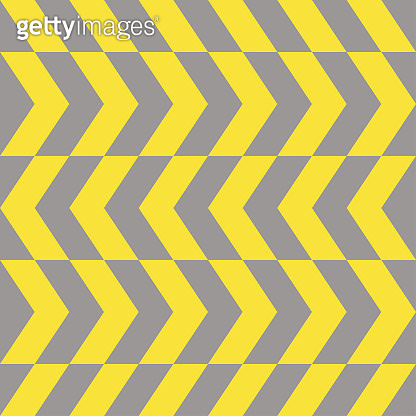 Zigzag pattern, yellow and gray dashed lines. Seamless vector illustration.