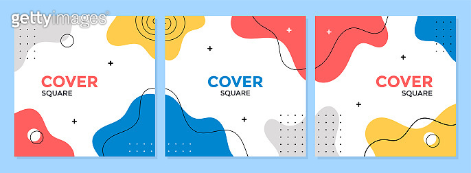 Cover template design vector with geometric shapes background.
