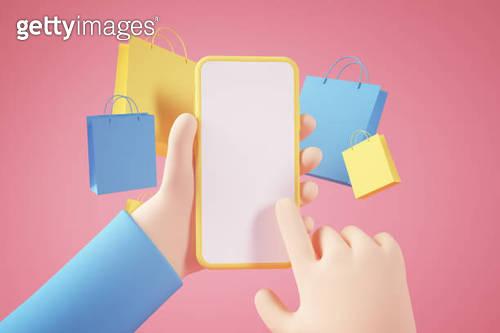 Shopping online app concept