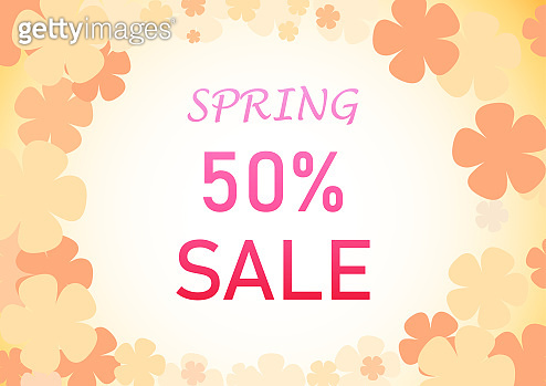 Spring Background with Pastel flower, vector art