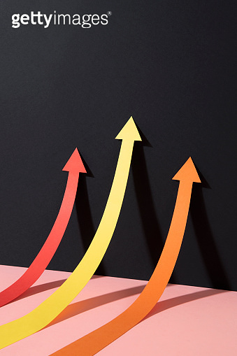 Business Growth Chart with Arrows