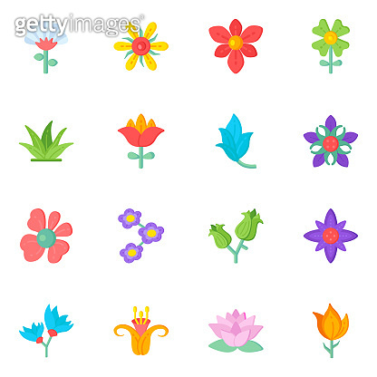 16 Amazing Icons Set of Flora with Scalable Facility