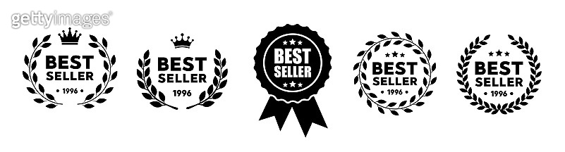 Best seller vector badge logo set