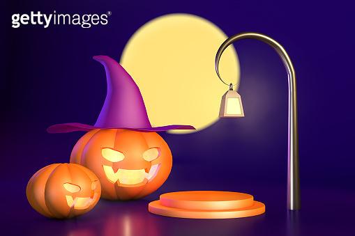 Orange pumpkin for halloween  product advertising
