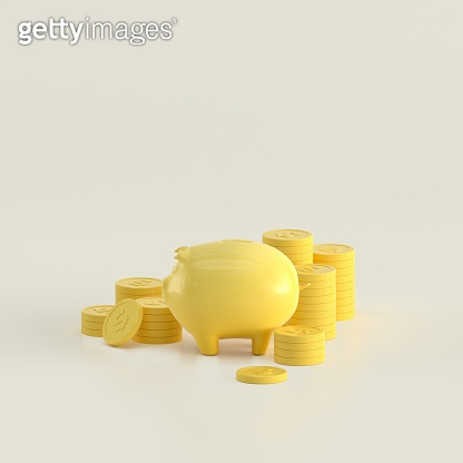 3d rendering coin objects, Simple financial related icons.