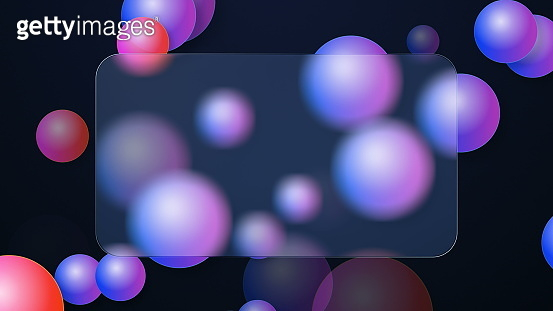 Glassmorphism trendy geometric background. Graphics with the effect of translucent glass or plastic.