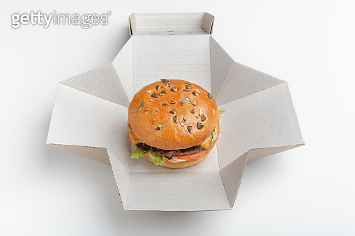 Modern lunch, contemporary meal and delivery fast food
