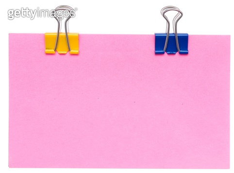 paper note with clips
