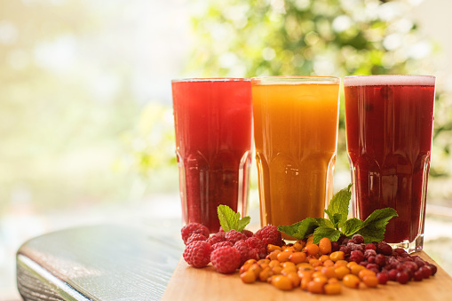 Fruit Drink and Coffee