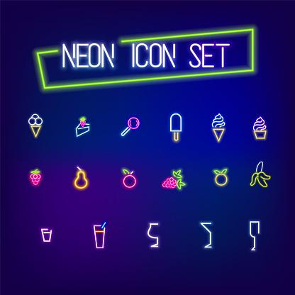 Neon icon set