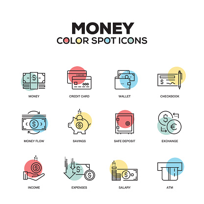 Money - line icons set