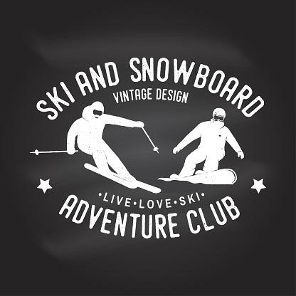 Ski and Snowboard illustration
