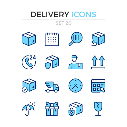 Semifill icon set of 16