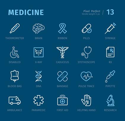 건강관련 아이콘세트