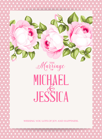 Floral garland template